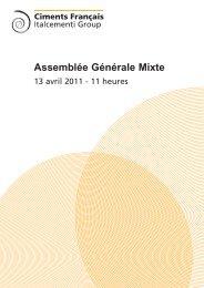 Assemblée Générale Mixte du 13 avril 2011 ... - Ciments Français