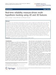 Real-time reliability measure-driven multi-hypothesis tracking using ...