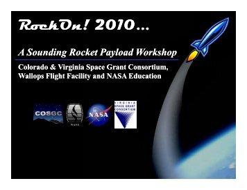 RockOn! 2010... - National Council of NASA Space Grant Directors