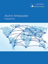 Alumni Ambassador Booklet - Royal Holloway, University of London