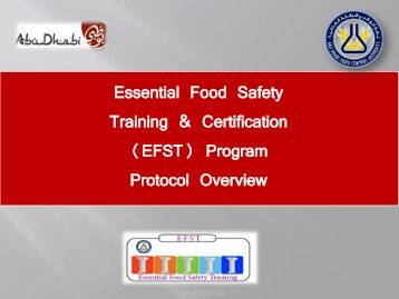 Essential Food Safety Training & Certification (EFST) Program ...