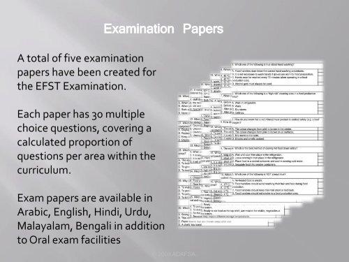 A total of five examinati