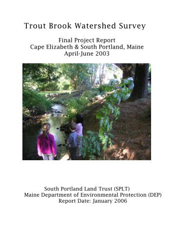Trout Brook Watershed Survey - Cumberland County Soil & Water ...