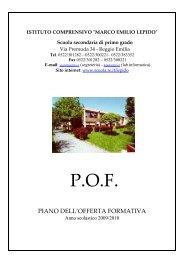 P.O.F. - Comune di Reggio Emilia
