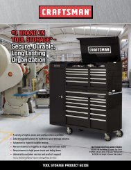 #1 BRANd iN TOOL STORAGE* – Secure, durable ... - Craftsman