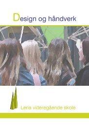 Design og håndverk - Videregående skoler