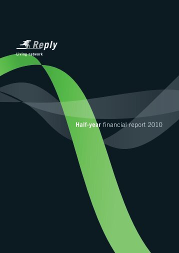 Half-year financial report 2010 - Reply