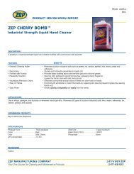 Cherry Bomb Hand Cleaner 0951 Product Specification Sheet