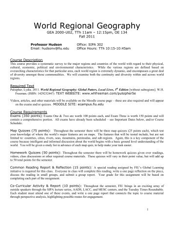 World regional geography list of physical features for map quizzes gea 2000 u03 world regional geography gumiabroncs Gallery