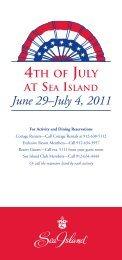 June 29–July 4, 2011 - Sea Island