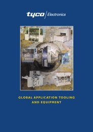 global application tooling and equipment - Tyco Electronics Czech sro