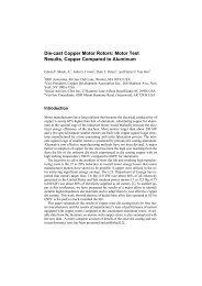 Die-cast Copper Motor Rotors: Motor Test Results, Copper ...