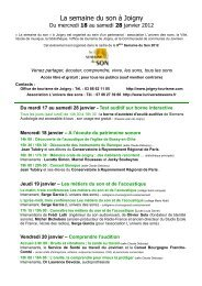Programme 2012 définitif 2.pub - La Semaine du Son