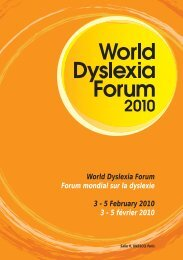 5 February 2010 3 - 5 février 2010 - Dyslexia International