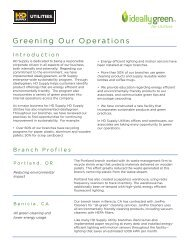 Greening Our Operations - HD Supply