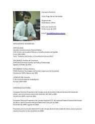 Consejero Electoral Víctor Hugo Bernal Hernández Originario de ...