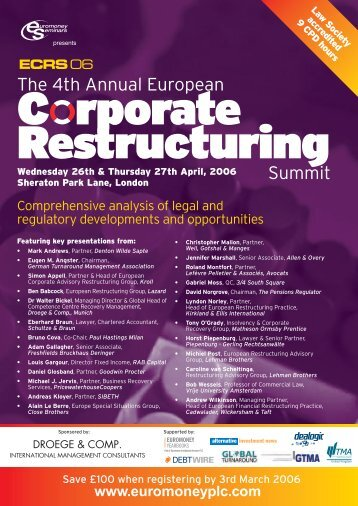 The 4th Annual European Summit - Euromoney Institutional Investor ...