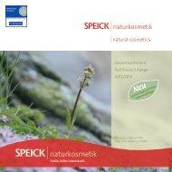 Gesamtsortiment Full Product Range 2012/2013 - Speick