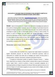 Linhagens Finais Cerrado 0607 - Fundação Bahia