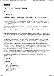 OSCE Mission in Kosovo - Su... - Aktion 302