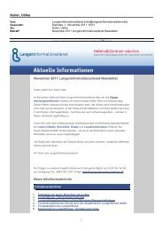 Newsletter November 2011 - Lungeninformationsdienst
