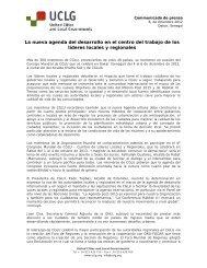La nueva agenda del desarrollo en el centro del trabajo de ... - UCLG