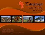 Tanzania 2010 Itinerary - Occasions, Inc.