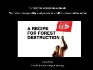Narrative, temporality and praxis in wildlife ... - Climate Histories