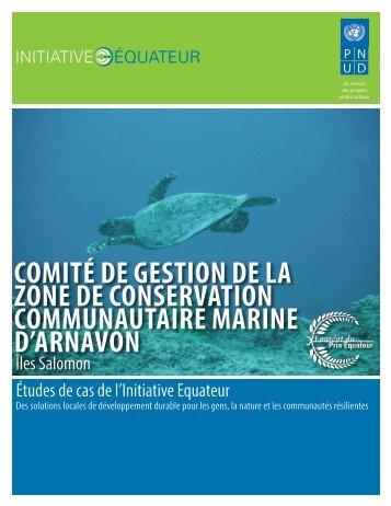 comité de gestion de la zone de conservation ... - Equator Initiative