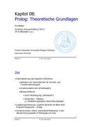 Prolog: Theoretische Grundlagen - Friedrich-Alexander-Universität ...