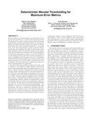 Deterministic Wavelet Thresholding for Maximum-Error ... - CiteSeerX