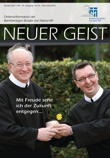 """""""Neuer Geist"""" 1-2009 - Barmherzige Brüder von Maria-Hilf"""