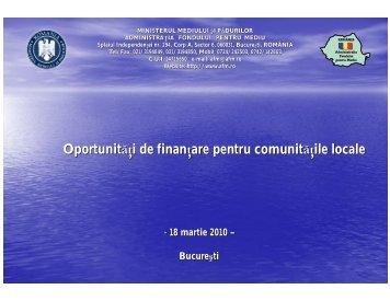 Oportunitati de finantare pentru comunitatile locale