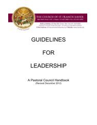 GUIDELINES FOR LEADERSHIP - Church of St. Francis Xavier