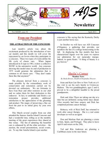 Newsletter - The Car Nut