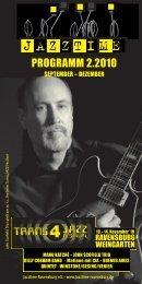 Jazztime Programm Herbst 2010