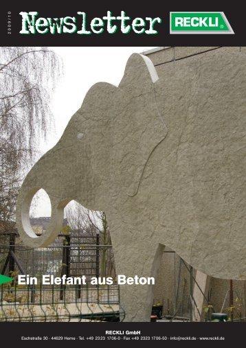 Ein Elefant aus Beton - RECKLI GmbH: Home
