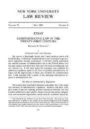 Administrative Law in the Twenty-First Century - NYU Law Review