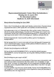 3. maj 2007 4. marts 2011 Repræsentantskabsmøde i Senior Idræt ...