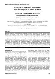Analysis of Historical Documents from a Viewpoint of Paper Science