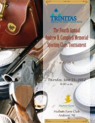 The Fourth Annual Andrew H. Campbell Memorial ... - Trinitas Hospital