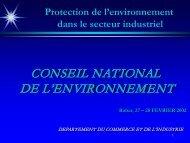 Protection de l'environnement dans le secteur industriel