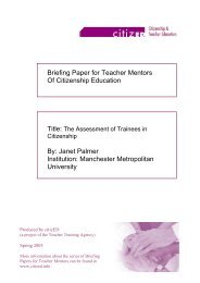 Assessment of trainees in citizenship - Citized