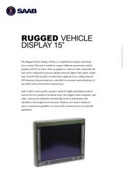 "RUGGED VEHICLE DISPLAY 15"" - Saab"