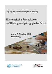 Ethnologische Perspektiven auf Bildung und pädagogische Praxis
