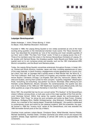 Biography (pdf) - Müller & Pavlik artistic management