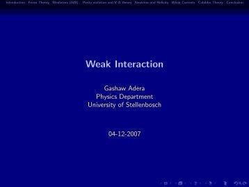 Weak Interaction - users-deprecated.aims.ac.za