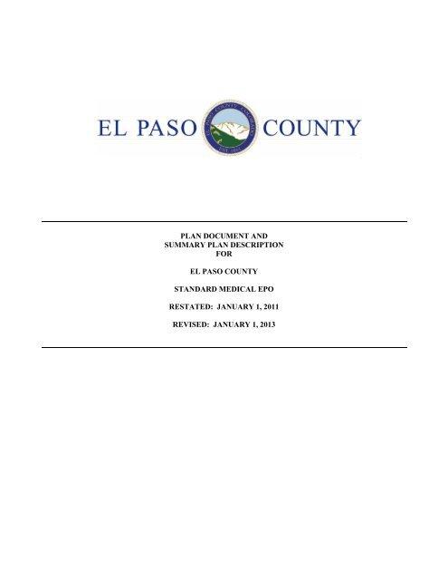 El Paso County SPD Standard Medical EPO_Revised Jan 2013 PD