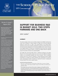 support for business r&d in budget 2012 - University of Calgary ...