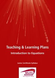 Teaching & Learning Plans - Project Maths